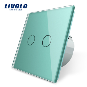 Image 4 - Livolo EU Standard Wall Light Touch Switch,Wall home switch,Crystal Glass Switch Panel, 220 250V,corss,dimmer,wireless,curtain
