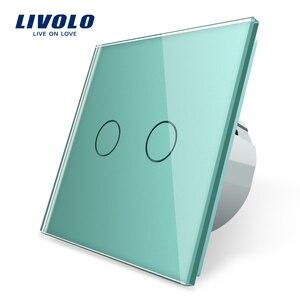 Image 4 - Livolo الاتحاد الأوروبي القياسية الجدار مفتاح الإضاءة التي تعمل باللمس ، الجدار الرئيسية التبديل ، الكريستال والزجاج لوحة التبديل ، 220 250 فولت ، كورس ، باهتة ، اللاسلكية ، الستار