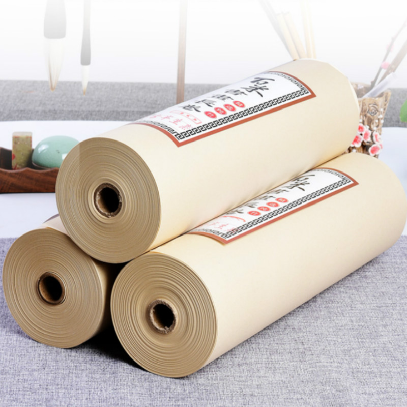 Chinese Rice Paper Half-Ripe Gold Foil Xuan Papers For Painting Calligraphy Chinese Roll Rice Papers With Scattered Gold Spot