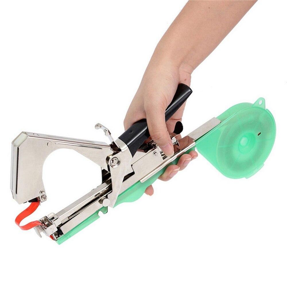Tools : Green Plant Tying Machine Gardening Tapetool Tapener Gun with 10 Rolls of Tape 1 Box of Staple for Vegetable Grape Pepper Flower