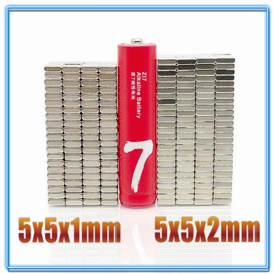 ¡20-200 unids/lote imán 5x5x1 5x5x2 N35 cuadrado fuerte NEODIMIO de la tierra rara imán 5*5*1 5*5*2 imanes de neodimio 5*5*1 5x5x1! 5 200 unids/lote, 2ML, botella de Spray de plástico transparente, pequeño atomizador de embalaje cosmético, botellas de Perfume, atomizador de pulverización de líquido