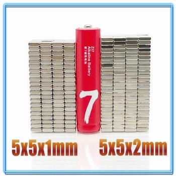 20-200pcs/lot magnet 5x5x1 5x5x2 N35 Strong Square NdFeB Rare Earth Magnet 5*5*1 5*5*2 Neodymium Magnets 5x5x1.5