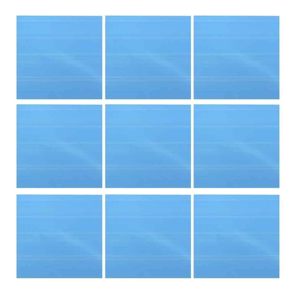 9PCS Mirror Tile Wall Sticker Square Self Adhesive Room Decor Stick On Art