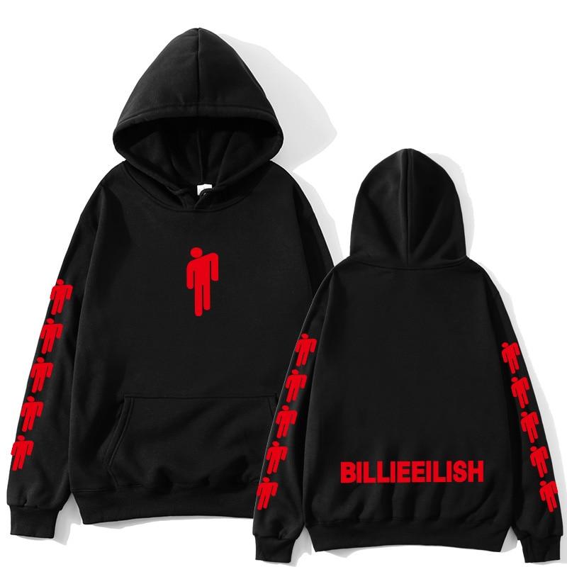 Billie Eilish2020 Hoodie Men Black Hoodie Couple Billie Eilish Sweatshirt Simple Keep Warm Women/men Hoodie Clothes Supzxu