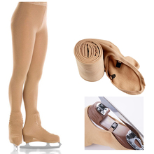 Over Boot Figure Skating Tights Thermal Warm Buckled Skate Compression Leggings