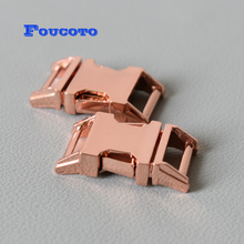 20pcs/lot rose gold metal quick release buckle belt buckles clip clasp 15mm DIY dog collar bag backpack handmade accessories