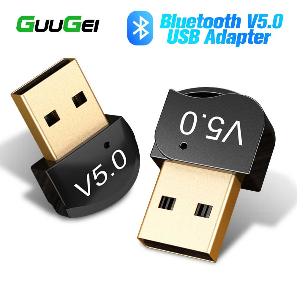 GUUGEI Wireless USB Bluetooth Adapter For Computer Laptop Bluetooth Dongle USB Bluetooth 5.0 Audio Receiver Adapter Transmitter