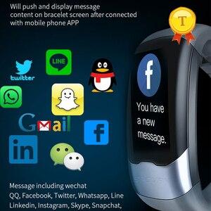 Image 5 - 2020 nova atualização exata freqüência cardíaca monitoramento de pressão arterial banda inteligente pulseira ecg ppg relógio inteligente homem mulher esportes