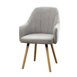 Yulai cegar xuan Европейский Стильный обеденный стул простая бытовая мебель для отдыха и досуга твердый деревянный диван один человек тканевое си...