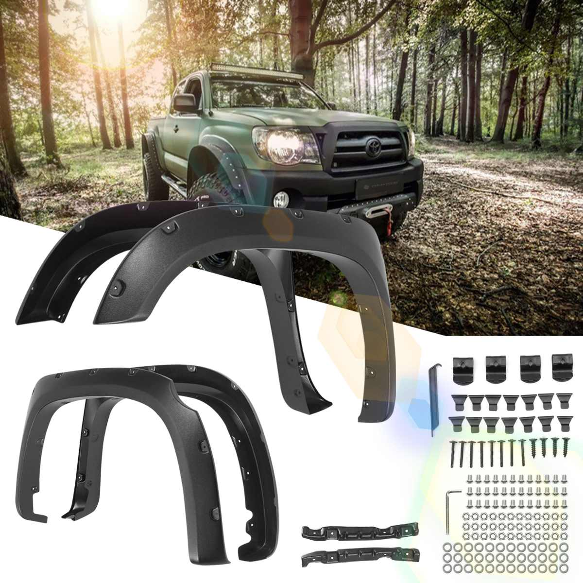 2019 Newset 4pcs/Set Rear /Front For Fender Flares For Toyota Tundra 2014-2017 Smooth Surface Style/Striae Style