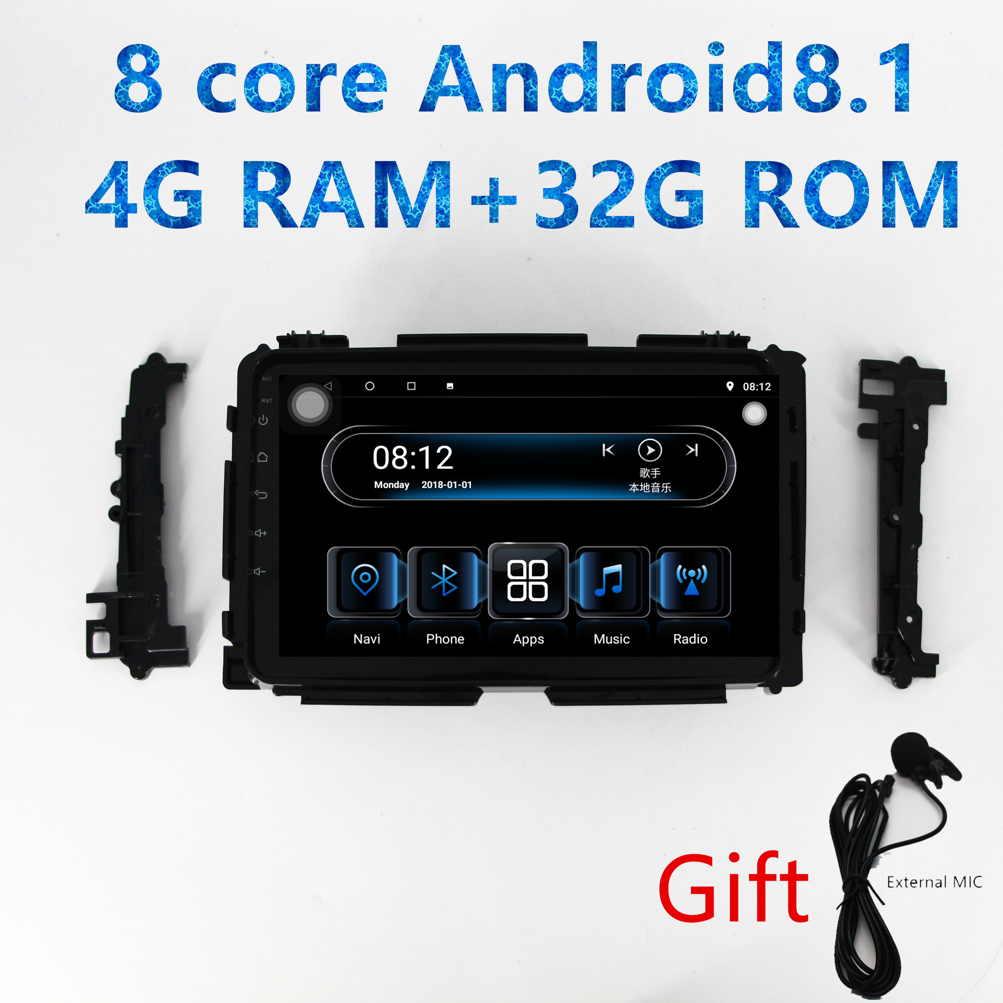 Dasaita Android 9.0 Car Stereo for Honda Vezel HR-V HRV 2014 2015 2016 2017 Gps Navigation Radio with 9 Inch Screen 4G Ram Head Unit