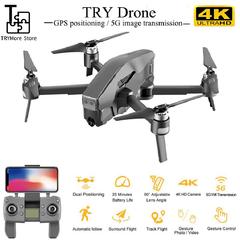 Brushless 5g Wifi <font><b>Fpv</b></font> Gps Rc <font><b>Drone</b></font> 1080p 4k Camera Hd Wide Angle 2km Distance Brushless <font><b>Drone</b></font> 30mins Flight Time Rc Quadcopter image