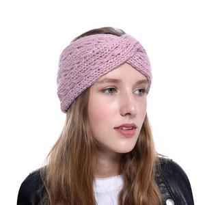 Женская вязаная повязка-тюрбан, широкая эластичная плотная повязка на голову, аксессуары для волос, зима 2019