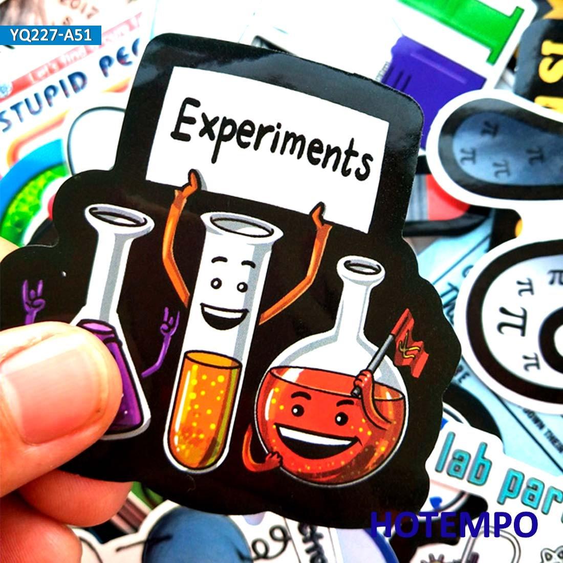 50pcs Science Laboratory Chemical Math Symbol Element Formula Mixed Style Stickers For Phone Laptop Luggage Suitcase Skateboard