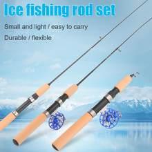 2 pz canne da pesca sul ghiaccio invernale canne da pesca mulinelli da pesca per scegliere canna Combo penna esche da palo attrezzatura da Spinning Casting canna morbida