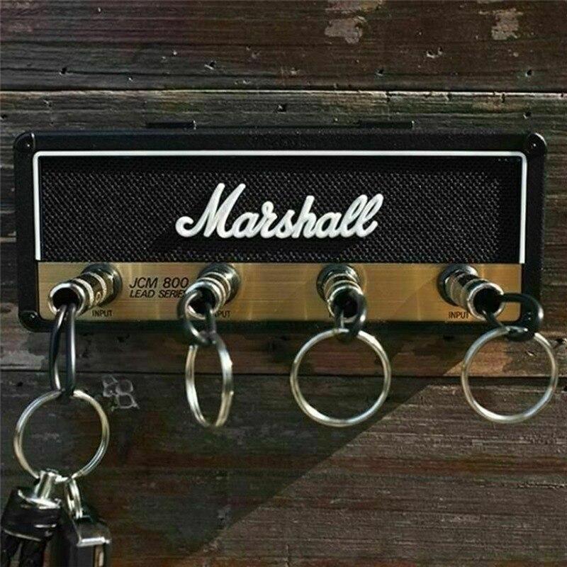 Marshall Key Holder Vintage Guitar Amplifier Key Holder Jack Rack 2.0 Marshall JCM800 Key Wall Holder Guitar Home Decoration