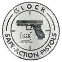 Shabby Chic Vintage Round Signs Glock Safe-acnon Pistols Metal Plate Plaque Pub Wall Art Metal Sign 30 CM