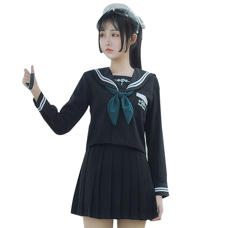 LEHNO Japanese School Uniform JK Uniform Summer College Female Sailor Suit