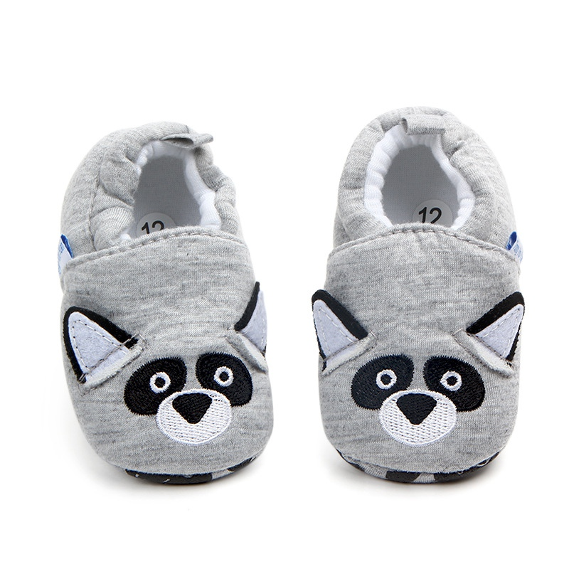 Newborn Baby Shoes First Walker Girls Boy Shoes Cartoon Animals Cotton Crib Shoe Toddler Soft Sole Anti-slip Baby Infant Shoes