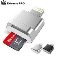 Mini lector de tarjetas OTG para iPhone, adaptador de tarjeta TF de 16, 32, 64 y 128GB, Plug & Play Lightning a MicroSD, No necesita controlador