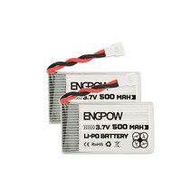 Batteria Drone Lipo 2pcs - 3.7v 500mah per Syma X5hw X5hc X5uw Rc Quadcopter accessori batteria batteria Drone