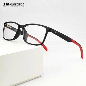 Image 1 - 2020 العلامة التجارية TR90 نظارات إطار الرجال قصر النظر الكمبيوتر إطارات نظارات طبية النساء الترا ضوء مربع العين إطارات النظارات للرجال TH503