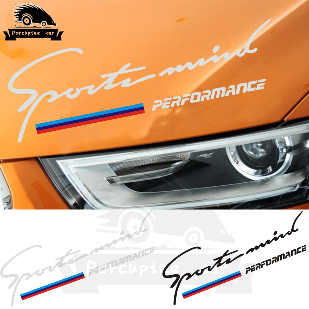 Car Sport Racing Decal Reflective Lamp <font><b>Eyebrow</b></font> Sticker For <font><b>BMW</b></font> Performance X1 X3 X5 X6 E46 E39 E36 <font><b>E90</b></font> F10 F30 Z4 M Car Styling image