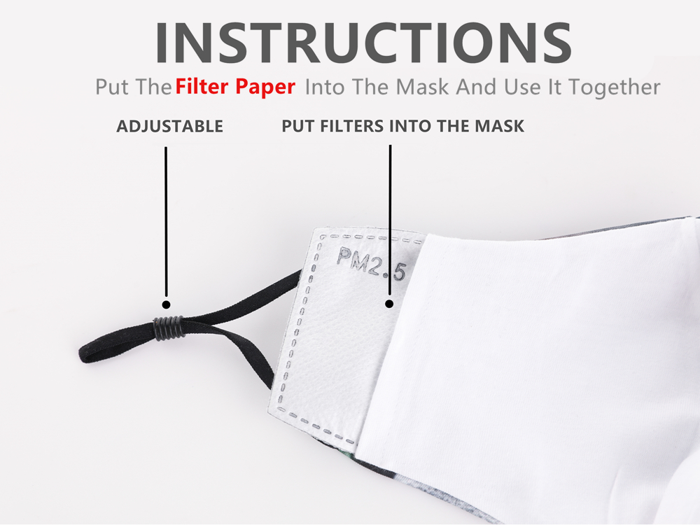 10pcs/Lot PM2.5 Filter Paper Anti Saliva Mouth Mask Anti Dust Mask Filter Paper Health Care