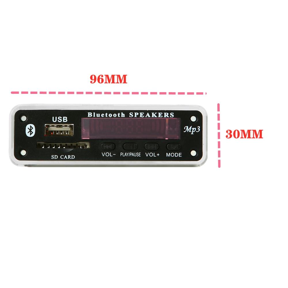 5 فولت-12 فولت تركيبات السيارات مشغل mp3 بلوتوث MP3 فك مجلس MP3 قارئ بطاقات MP3 وحدة بلوتوث ملحقات الصوت مع راديو FM