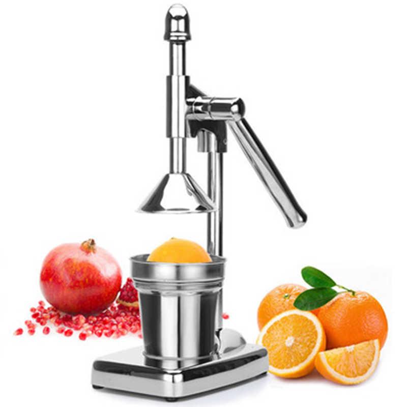 Manual de imprensa aço inoxidável frutas espremedor handheld vegetal frutas fabricante suco laranja liquidificador suco fazendo copo cozinha gadgets