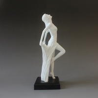 Modern Style Sexy Beauty Figure Miniature Statue/Bathe Dance Nude Woman Lady Girl Interior Home Decoration Accessories Sculpture