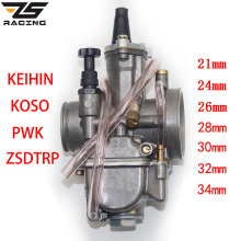 Motorcycle Carburetor Power-Jet OKO Keihin Koso Universal 2T ZS with for Racing 24-26