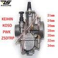 ZS Racing 2T 4T универсальный карбюратор для мотоцикла Keihin Koso OKO Carburador 21 24 26 28 30 32 34 мм с гидроабразивной струей для гоночного мотоцикла