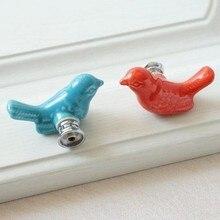 Cartoon animals Kid\'s Ceramic Drawer Furniture Knobs Children Cute Cabinet Pulls Dresser Knob Cute Cupboard Handle