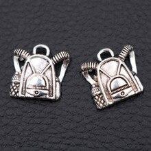 Backpack Pendant, pop Charms, School Bag Travel DIY Tibetan Silver A1988 30pcs
