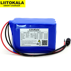 Liitokala 12V 10Ah o dużej pojemności 18650 li-lon akumulator 12.6V 10000mAh z obwodem PCB płyta ochronna LED lampa ksenonowa ues