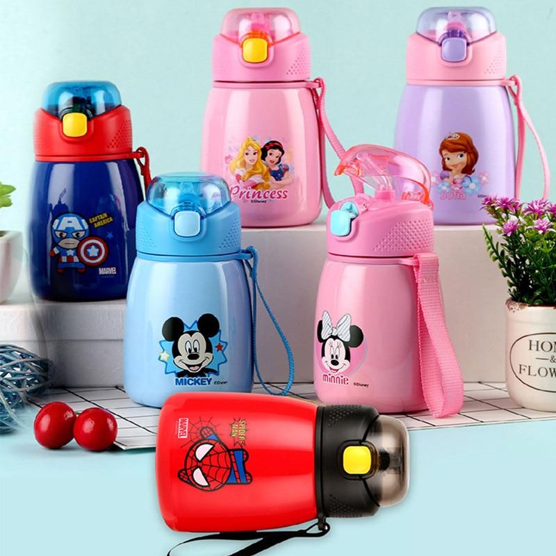 350mL Disney Water Cup 304 Stainless Steel Vacuum Insulation Bottle Mummy Feeding Baby Mug Portable Children School Kettle Gifts