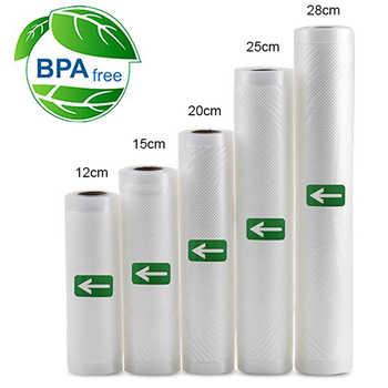5 Rolls / 1lot 12+15+20+25+28*500 cm Vacuum Sealer Bags Food Storage Bags for Vacuum Sealer Fresh Food Packing Packer - DISCOUNT ITEM  31% OFF All Category