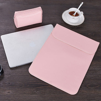 New PU Leather Women Men Magnet Adsorption Sleeve Laptop Bag For Macbook Air 11 12 13 Case New Pro 15 Touch Bar Ultra thin Cover|Laptop Bags & Cases|   -