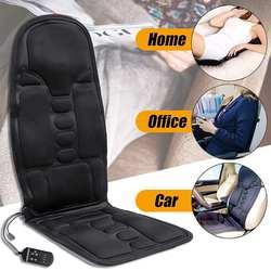 Электрическая многофункциональная Массажная подушка с подогревом спины, для дома и офиса, автомобильное сиденье, массажный стул, пояснична...