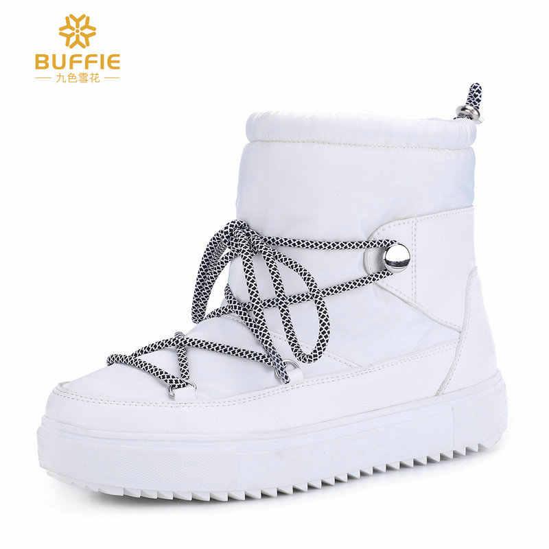 Çizmeler kadın kış kar botu % 50% doğal yün karışımı sıcak moda siyah beyaz bordo renk lace up kısa stil ücretsiz kargo