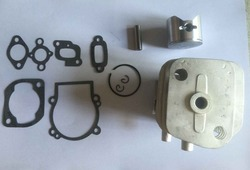 30.5cc 2 Bolt Heads Engine Cylinder Piston with Gasket Kit for 1/5 HPI ROFUN ROVAN KM Baja RC Car Parts