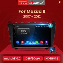 Junsun v1 2g + 32g android 10 dsp rádio do carro reprodutor de vídeo multimídia para mazda 6 2007 2008 - 2012 navegação gps 2 din dvd rds