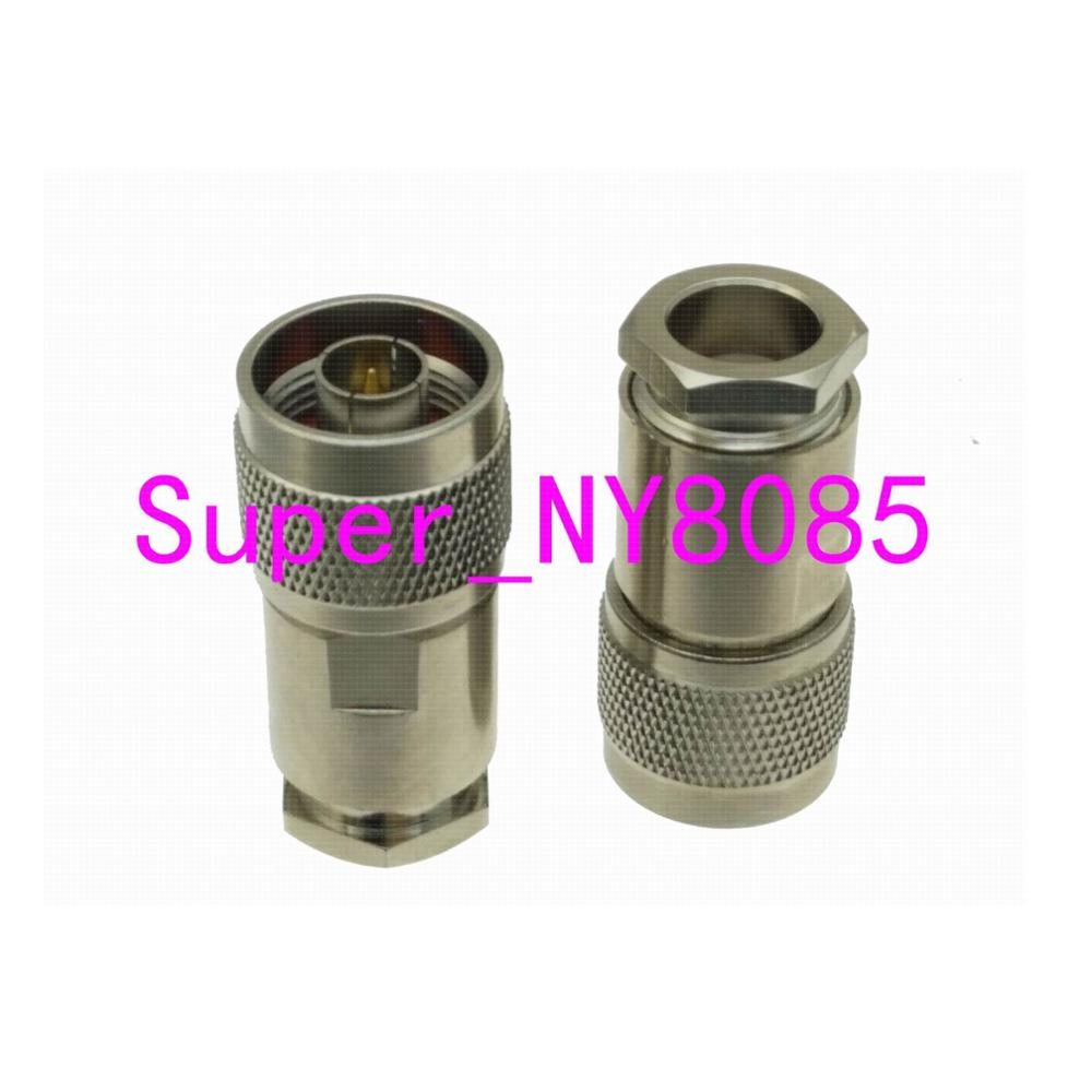 1pce Connector N Male Plug Pin Clamp RG8 RG213 RG165 LMR400 7D-FB Cable Straight