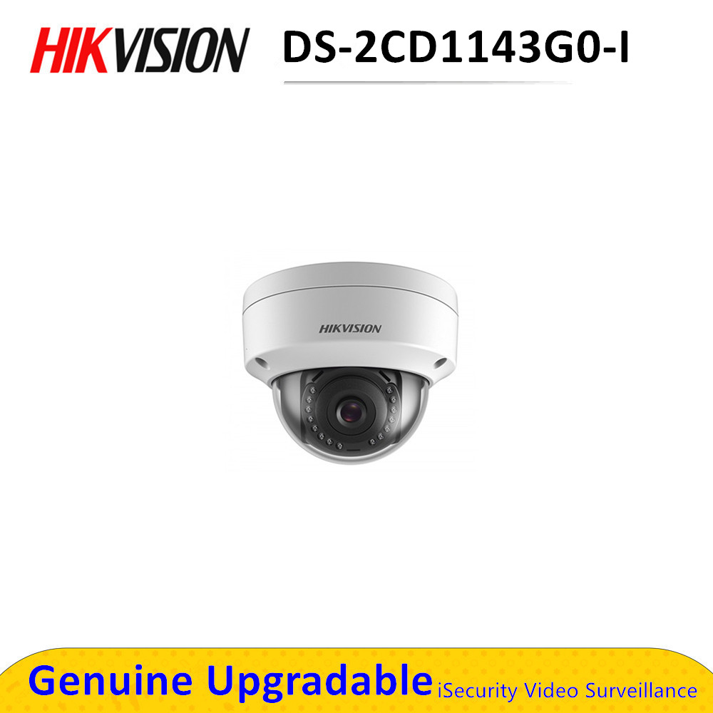Hikvision – caméra de surveillance dôme IP POE 4MP, DS-2CD1143G0-I, étanche IP67, avec codec H.265 +, système infrarouge (30M), DS-2CD1143G0E-I