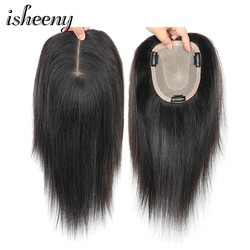 8 10 12 Human Hair Topper Wig For Women 12*14 Breathable Fine MONO U Style With Clip In Hair Toupee Remy Hairpiece