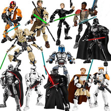 New Star Wars Darth Toys Jango Erso K-2SO Darth Vader Figure toy building blocks darth nihilus with red lightsaber xinh 207 starwars darth vader star wars building block best toys for children
