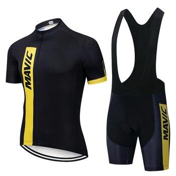 Mavic 2019 conjunto de roupa de ciclismo masculina, roupa de corrida e de estrada para time profissional, camisa de secagem rápida ciclismo maillot 1