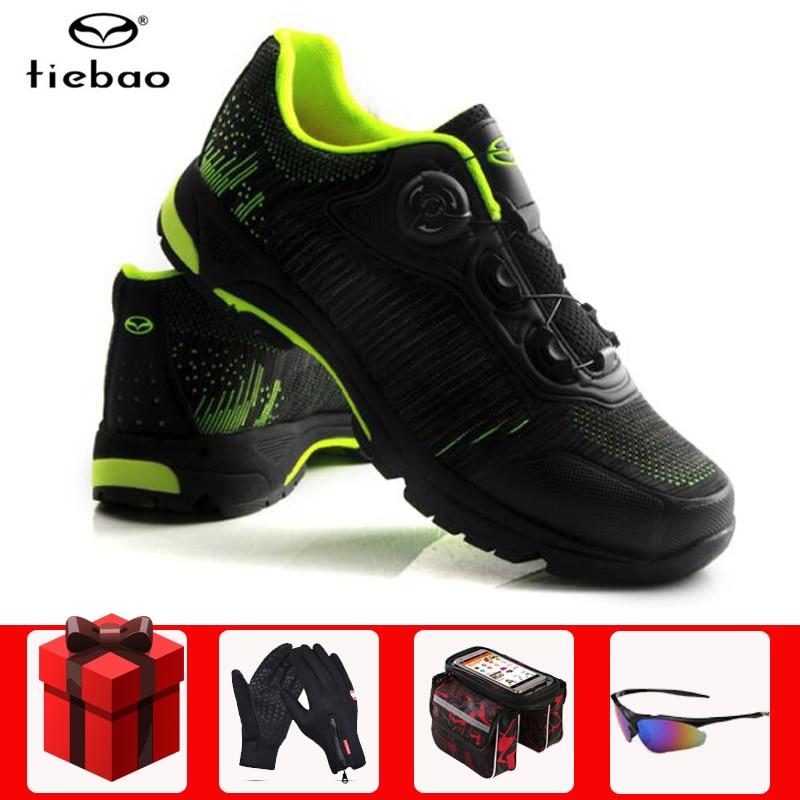 Tiebao MTB Ciclismo Sapatos de Lazer homens Auto-Sistema de Bloqueio Bicicleta de Turismo Sapatos Lacing Respirável Sapatos Bicicleta Sapatilha Ciclismo