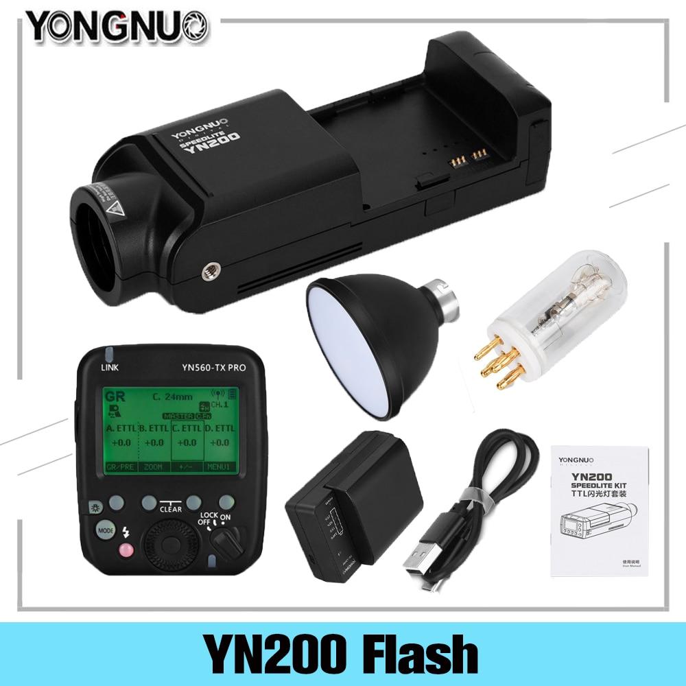 YONGNUO YN200 TTL HSS 2.4G 200W batterie au Lithium avec USB Type C,Compatible YN560-TX (II)/YN560-TX Pro pour appareil photo Canon Nikon